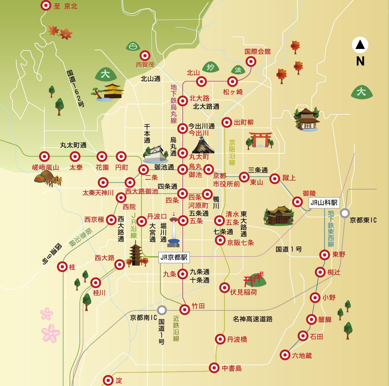 京都市の地図
